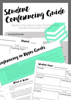 Conferencing Guide: One to One Conferences in Secondary Classrooms
