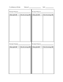 Conferencing Notes Sheet