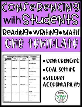 Conferencing Sheets (Reading, Writing, & Math)
