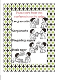 Conferencing With Peer During Writer's Workshop Spanish Poster