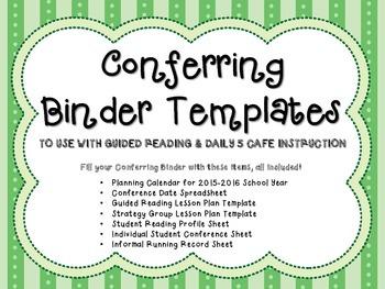 *UPDATED* Conferring Binder Templates