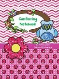 Back to School Conferring Notebook: Chevron Dot Theme
