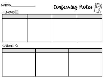 Conferring Notes