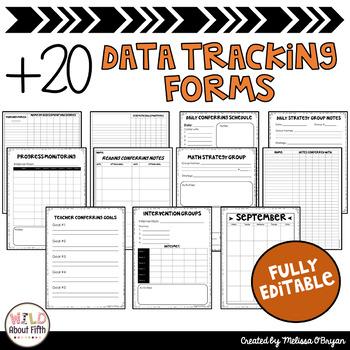 Data Tracking Workshop Organizer: Math Teacher Binder (Stick Kids Theme)