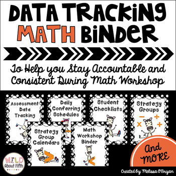 Data Tracking Workshop Organizer: Math Teacher Binder (Zeb