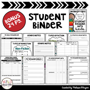 Data Tracking Workshop Organizer: EDITABLE Reading Teacher Binder