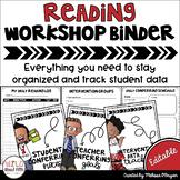 Data Tracking Workshop Organizer: EDITABLE Reading Teacher