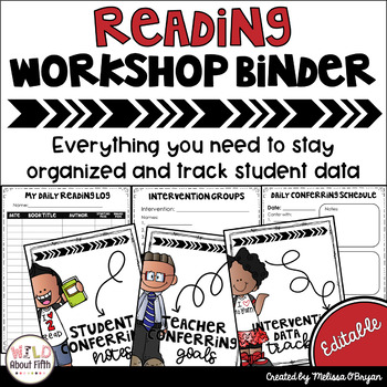 Data Tracking Workshop Organizer: EDITABLE Reading Teacher