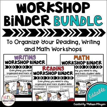 Data Tracking Workshop Organizers: Reading, Writing & Math BUNDLE (Stick Kids)