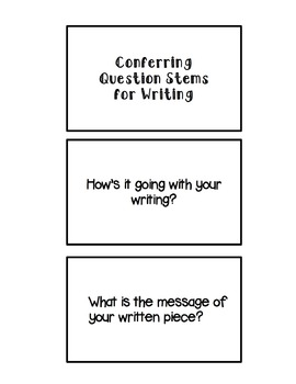 Conferring Question Stem Cards