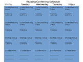 Conferring Schedule (EDITABLE)