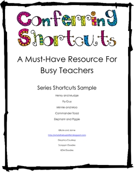 Conferring Shortcuts FREE! {A Must-Have Resource for Busy Teachers}