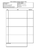 Conferring Template for Writing Workshop