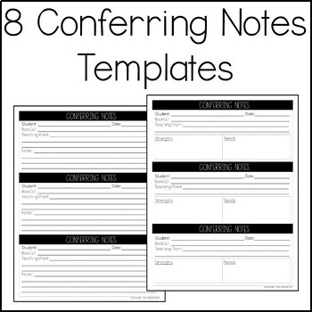 Conferring and Group Notes Templates