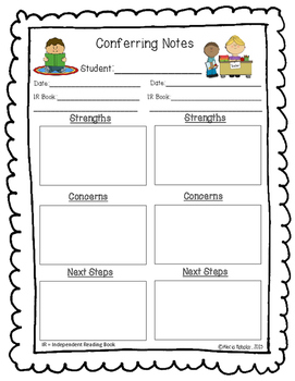 Conferring and Guided Reading Notes