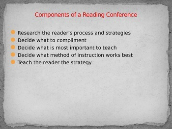 Conferring with Readers Power Point