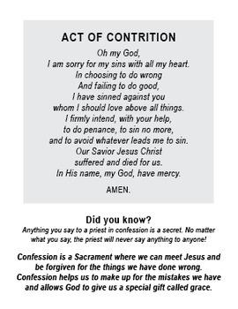 Confession Guide for Kids - Printable mini handbook