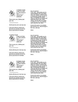 Confession (Reconcilliation) Guide Cards