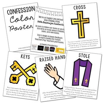 Confession - Sacrament Posters, Coloring Pages, and Mini Book Set