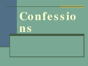 Confessions Catholic Power Point