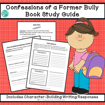 Confessions of a Former Bully Reading Response Journal