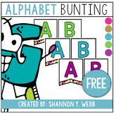 Confetti Alphabet Bunting