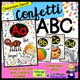 Confetti Alphabet- Classroom Decor