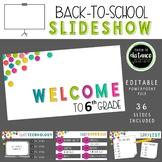 Confetti Back to School Slideshow