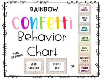 Confetti Behavior Chart