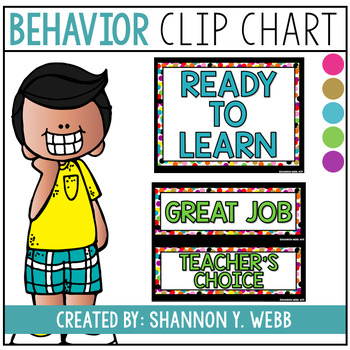 Confetti Behavior Clip Chart (Traditional Wording)
