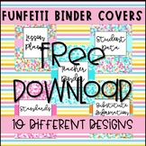 Confetti Binder Covers Editable  CUSTOMIZED BY ME OR YOU!