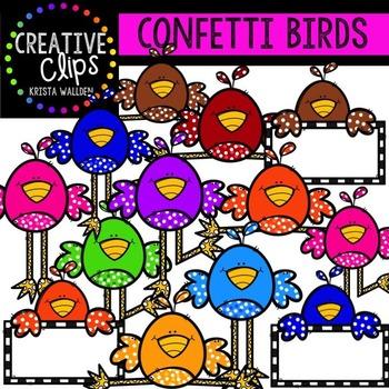 Confetti Birds {Creative Clips Digital Clipart}