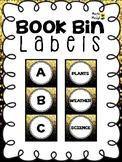 Confetti Book Bin Labels