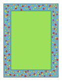 Confetti Border Green