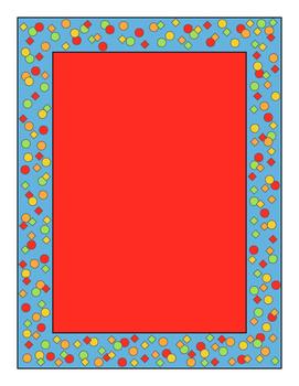 Confetti Border Red