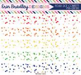Confetti Border Clipart - Polka Dots