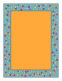 Confetti Border Orange