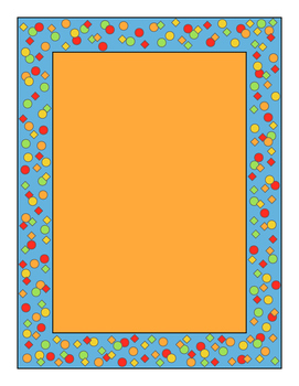 Confetti Border Orange