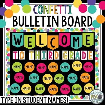 Confetti Bulletin Board Display