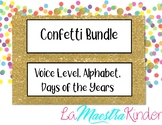 Confetti Bundle (Voice Level, Alphabet & Days of the year)
