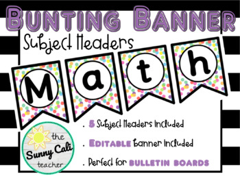Confetti Bunting Banners