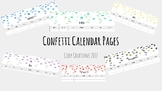 Confetti Calendar Pages