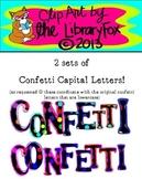 Confetti Capital Letters to match lowercase confetti letters