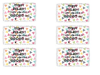 Confetti Celebration Theme Happy Birthday Notes