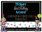 Confetti Celebration Theme Happy Birthday Notes