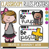 Confetti Classroom Rules Posters
