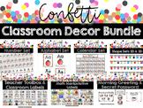 Confetti Classroom Decor Growing Bundle