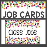 Confetti Classroom Decor Job Cards