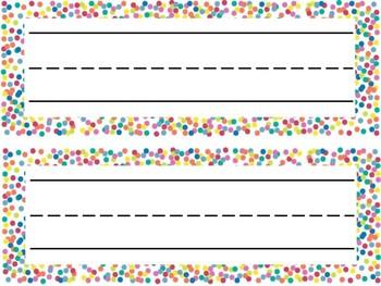 Confetti Classroom Decor Set (Editable)