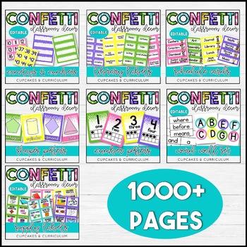 Confetti Classroom Decor Theme